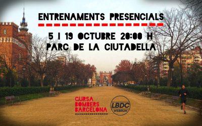 ENTRENAMENTS PRESENCIALS CURSA  BOMBERS AMB LA BOLSA DEL CORREDOR