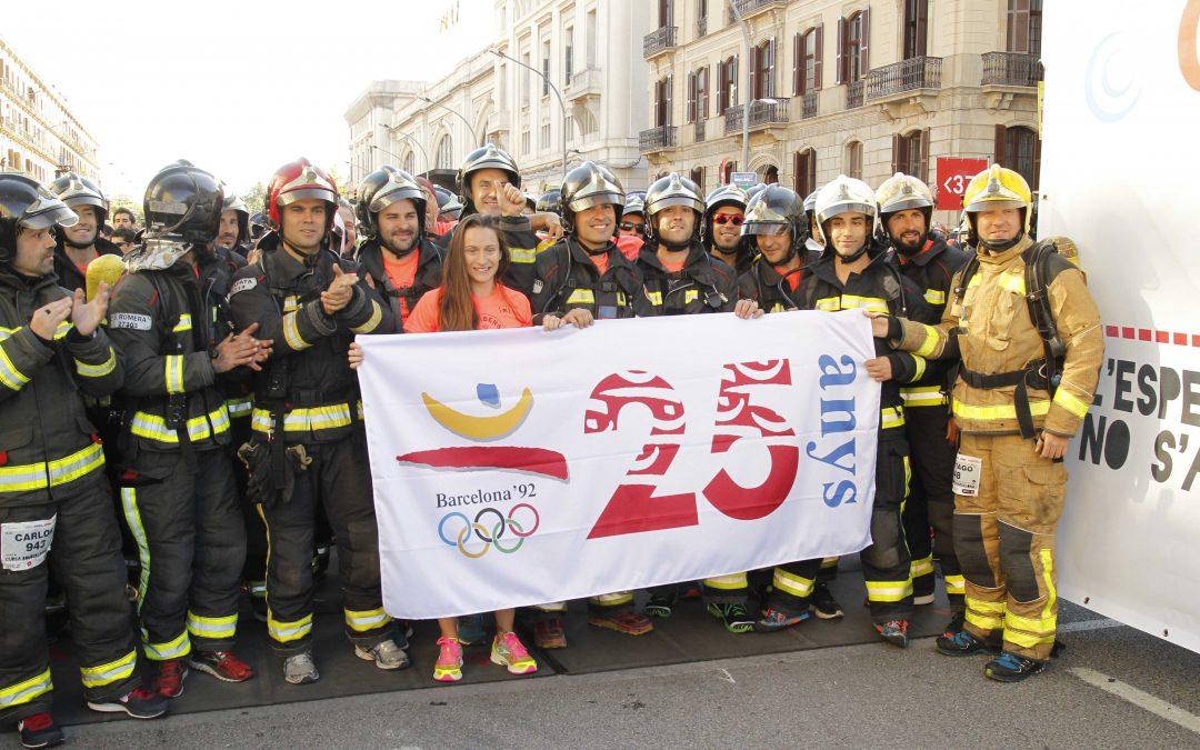 La Cursa Bombers de Barcelona commemora els JJOO'92