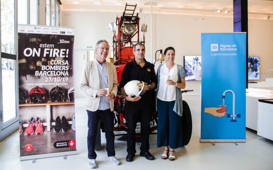 Aigües de Barcelona patrocinador oficial de la Cursa de Bombers de Barcelona 2019