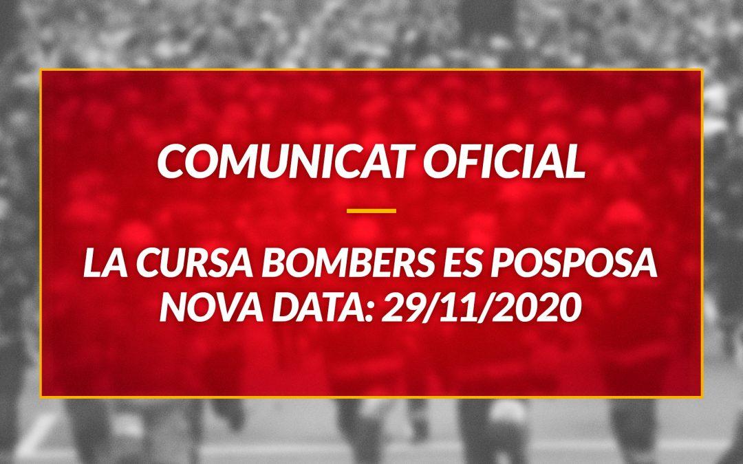 La Cursa Bombers de Barcelona es posposa al 29 de novembre 2020