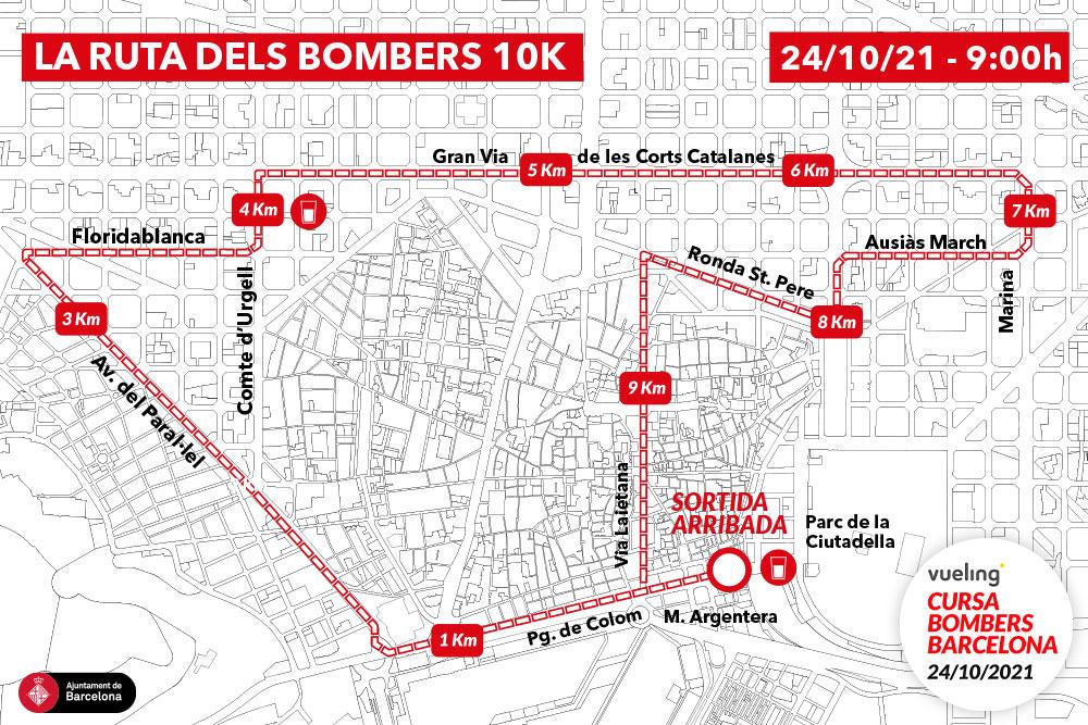 Tornem per córrer! Recorregut, horaris i tota la informació de la Vueling Cursa de Bombers